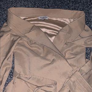 FASHION NOVA off the shoulder Trench Coat Size M
